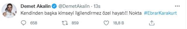 Demet Akalın, kız arkadaşıyla fotoğraf paylaştığı için tepki çeken Ebrar Karakurt'a destek oldu