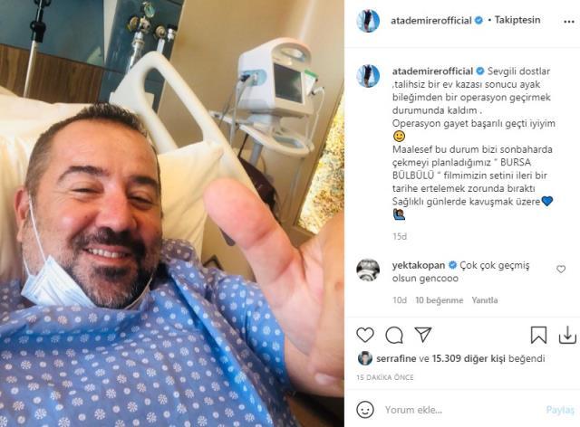 Evinde talihsiz bir kaza geçiren Ata Demirer, bileğinden operasyon geçirdi