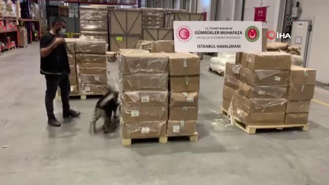 İstanbul Havalimanı'nda 4,3 ton uyuşturucu madde ele geçirildi - Haberler