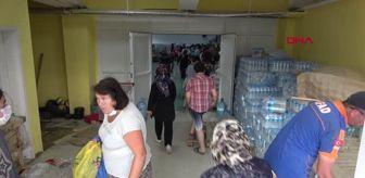 Sinop Valiliği: SPOR SALONU YARDIM MERKEZİ OLDU