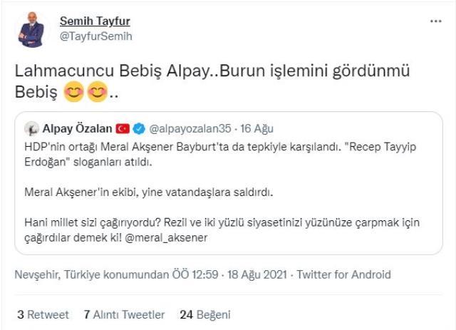 İyi Partili İlçe Başkanı Semih Tayfur'dan vatandaşa tepki çeken yanıt