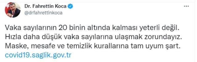 Son Dakika: Türkiye'de 19 Ağustos günü koronavirüs nedeniyle 216 kişi vefat etti, 19 bin 320 yeni vaka tespit edildi