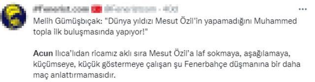 F.Bahçe maçının spikeri, Acun'un kanalında Mesut Özil'i eleştirince taraftarlar çılgına döndü