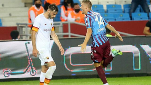 Roma'nın belalısı! Trabzonspor'un yeni transferi Andreas Cornelius'tan 51 saniyede gol