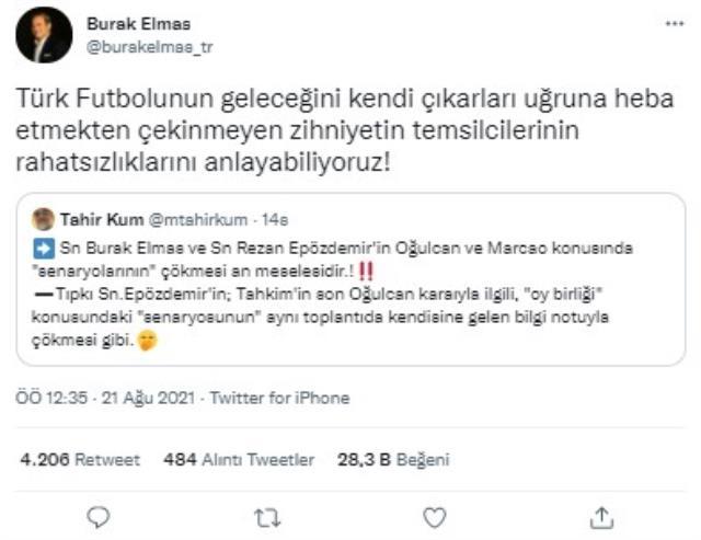 Galatasaray Başkanı Burak Elmas, gazeteci Tahir Kum'la atıştı