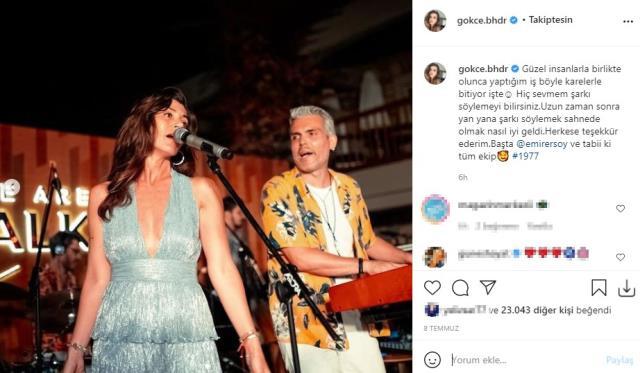 Gökçe Bahadır, müzisyen Emir Ersoy ile aşk yaşamaya başladı