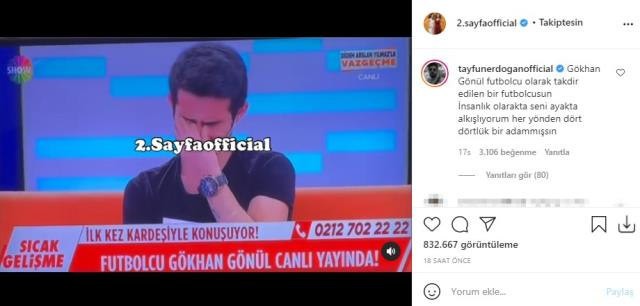 Gökhan Gönül kardeşine sahip çıktı, Emrah'ın oğlu Tayfun Erdoğan'dan yorum gecikmedi: Dört dörtlük adam