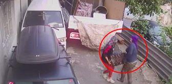 Fatih Sultan Mehmet Mahallesi: 2'si kadın 3 kişi otomobil motorunu böyle çaldı! Hırsızlık anı anbean kamerada