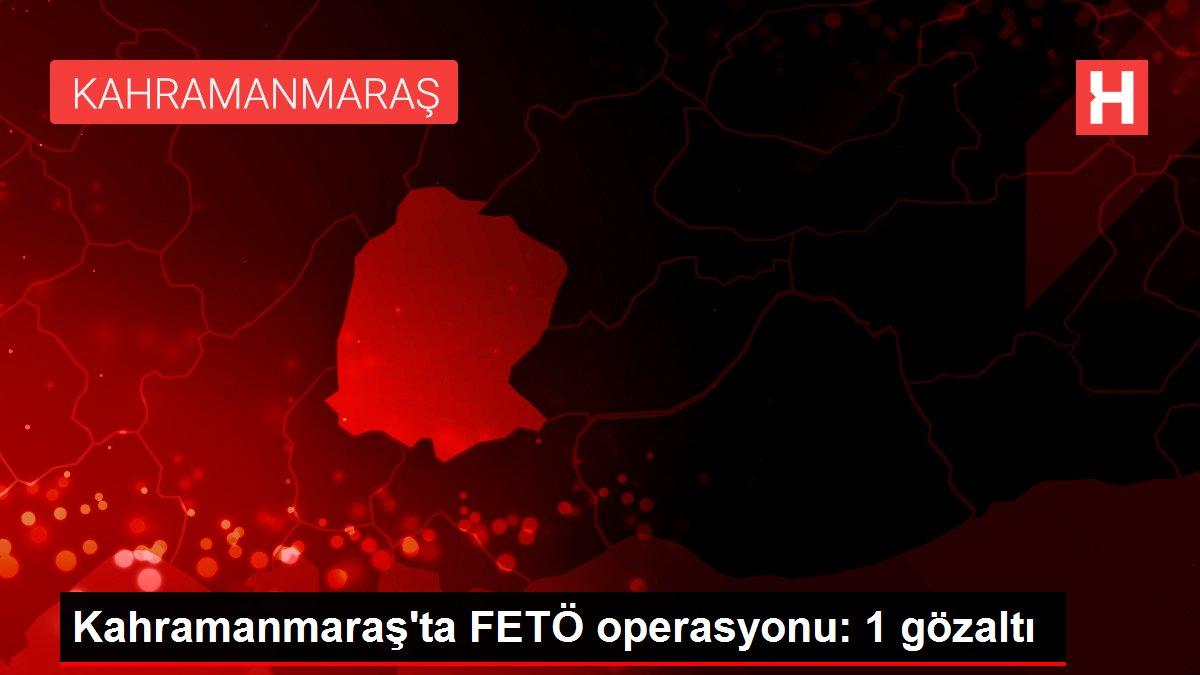 Kahramanmaraş'ta FETÖ operasyonu: 1 gözaltı