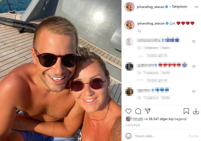 Pınar Altuğ eşiyle fotoğrafını paylaştı, ilk yorumlardan biri kayınvalidesinden geldi
