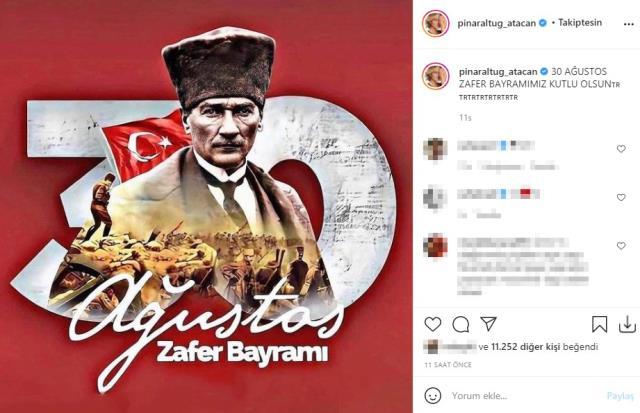 Ünlü isimlerden 30 Ağustos Zafer Bayramı paylaşımları