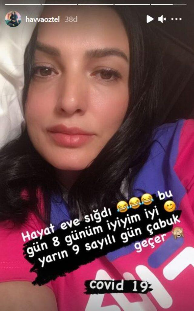 Yataktan pozunu paylaştı! Aleyna Tilki'nin annesi Havva Öztel de koronaya yakalandı