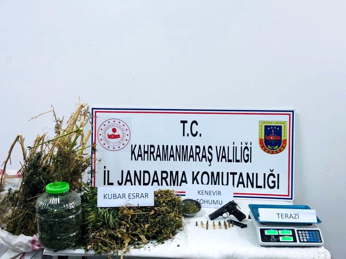 Kahramanmaraş'ta 6 kilo kubar esrar ele geçirildi