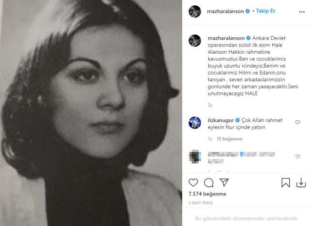Mazhar Alanson'un ilk eşi Hale Alanson hayatını kaybetti