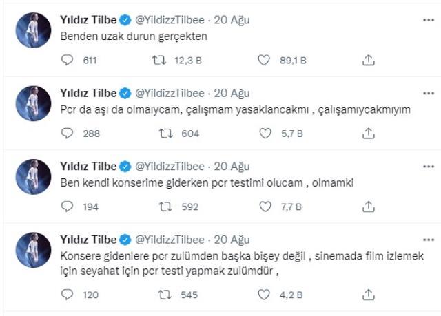 Aşı olmayı reddeden Yıldız Tilbe'nin Kıbrıs'ta vereceği konser iptal edildi