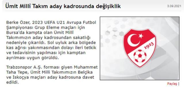 Fenerbahçe'de kale alarm veriyor! Milli Takım'a giden Berke'den kötü haber
