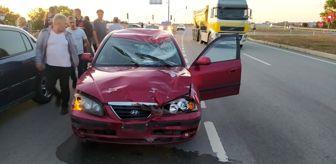 Büyükyoncalı: Otomobil motosiklete çarptı: 1 yaralı