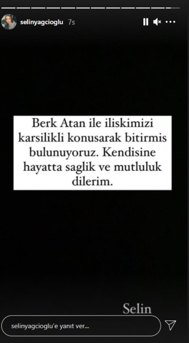 Berk Atan ve Selin Yağcıoğlu çifti ilişkilerini noktaladı