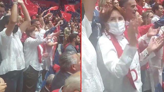 Voleybolcu kızlarımıza destek için Sırbistan'a giden Meral Akşener'in tezahürat görüntüleri ortaya çıktı