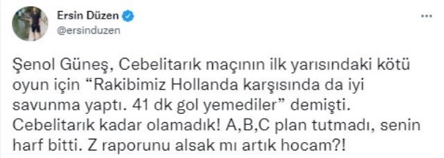 Ersin Düzen'den Şenol Güneş'e olay istifa çağrısı: Z raporunu alsak mı artık hocam!