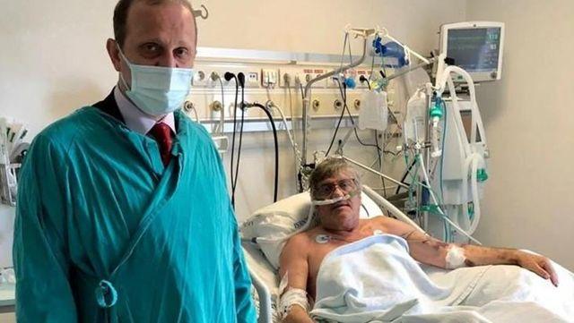 Koronavirüsü yenen Mustafa Reşit Akçay, hastanede yaşadıklarını gözyaşları içinde anlattı