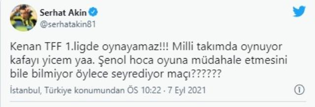 Serhat Akın'dan Şenol Güneş'e ağır eleştiri: Kenan Karaman'ı oynatıyor, kafayı yiyeceğim