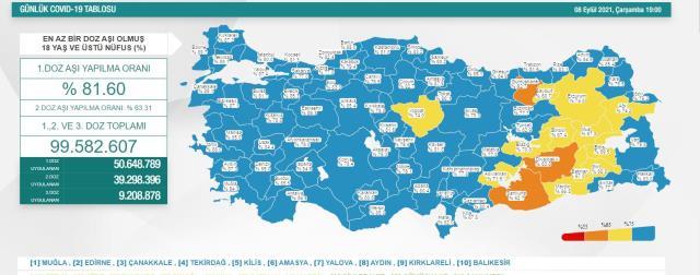 Son Dakika: Türkiye'de 8 Eylül günü koronavirüs nedeniyle 262 kişi vefat etti, 23914 yeni vaka tespit edildi