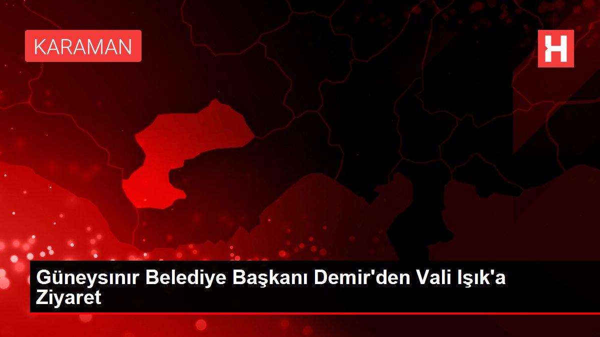 Güneysınır Belediye Başkanı Demir'den Vali Işık'a Ziyaret