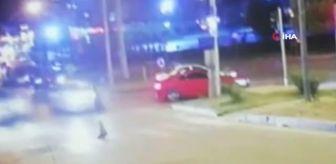 Mustafa Çelik: Son dakika haberi... Samsun'da otomobilin yayaya çarpıp fırlattığı feci kaza kamerada