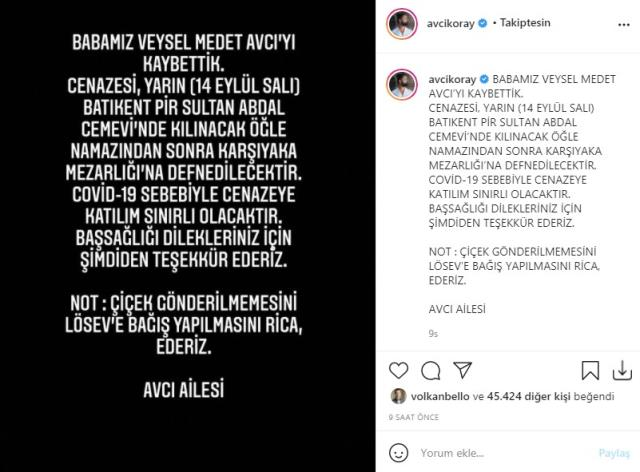 Şarkıcı Koray Avcı'nın babası hayatını kaybetti