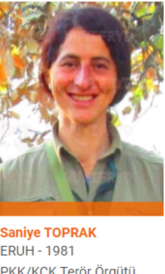 Son Dakika! 1 milyon TL ödülle turuncu kategoride aranan Diljin Mariya Dersim kod adlı PKK'lı terörist öldürüldü