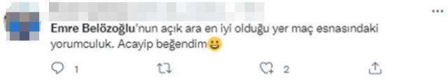 Emre Belözoğlu'nun yorumculuğu futbolseverleri mest etti! Ama tek bir eksiği vardı