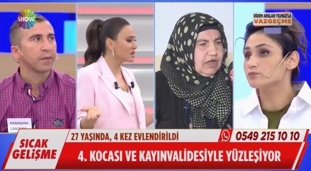 Azerbaycanlı gelini canlı yayında hiç susmaması sunucu Didem Arslan Yılmaz'ı çileden çıkardı