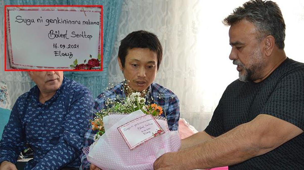 Bülent Serttaş'tan Elazığ'da bıçaklanan Japon turiste ziyaret! Özür notundaki hatası herkesi güldürdü