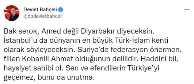 Davutoğlu'nun 'Amed' ve federasyon kararı yorumuna Bahçeli ateş püskürdü: Haddini bil, haysiyet sahibi ol