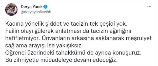 Celal Şengör'ün öğrencisi hakkındaki tepki çeken sözlerine Bakan Derya Yanık'tan da tepki geldi