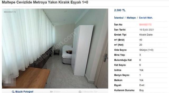 Kiralık daire sorunu giderek büyüyor! 20 metrekarelik 1+0 daire için 2 bin 500 lira istiyorlar
