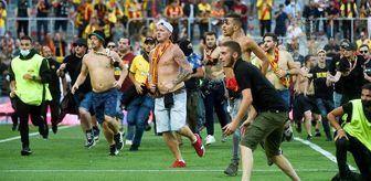 Futbol: Bizim çocukların maçında ortalık savaş alanına döndü! Lens taraftarları sahaya inip, Lille tribünlerine koştu
