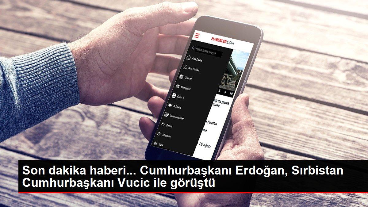 Son dakika... Cumhurbaşkanı Erdoğan, Sırbistan Cumhurbaşkanı Vucic ile görüştü