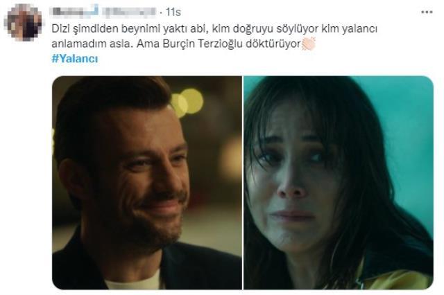 İlk bölümüyle ekrana gelen Yalancı dizisi Twitter'ı kasıp kavurdu! Burçin Terzioğlu ve Salih Bademci'nin oyunculuğu alkış topladı