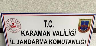 Jandarma Karakolu: Karaman'da ruhsatsız tabanca ele geçirildi