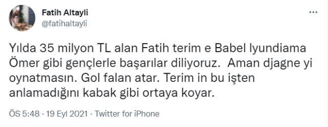 Fatih Altaylı'dan olay Terim paylaşımı! Maaşından dem vurup oyuncu tercihlerine ateş püskürdü
