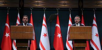 Cumhurbaşkanlığı Sarayı: Cumhurbaşkanı Yardımcısı Oktay, KKTC Başbakanı Saner  ile ortak basın toplantısında konuştu Açıklaması