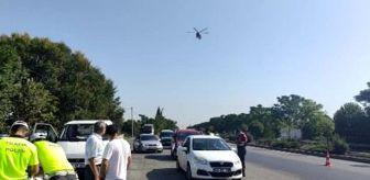 Akhisar: Son dakika haberi! Manisa'da jandarma ve emniyetten helikopter destekli denetim