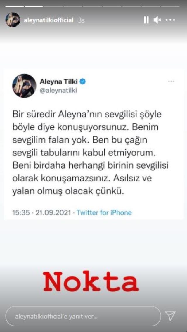Aleyna Tilki'nin sevgili paylaşımı ezber bozdu: Bu çağın tabularını kabul etmiyorum