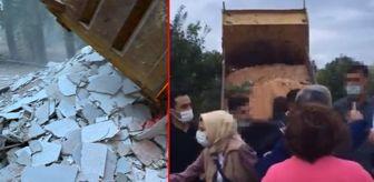 Üsküdar Belediyesi: Validebağ Korusu'na sabah saatlerinde iş makineleri girdi, gönüllülerle görevliler arasında arbede yaşandı