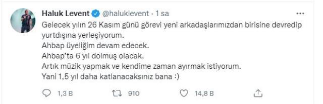 Haluk Levent, yurt dışına yerleşeceğine dair yaptığı paylaşımına açıklık getirdi