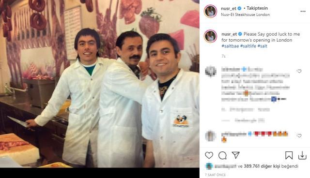Londra'da restoran açmaya hazırlanan Nusret Gökçe, çıraklık fotoğrafını paylaşarak takipçilerinden destek istedi