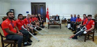 Türkiye: İçişleri Bakanı Soylu, Avrupa Şampiyonu Ampute Futbol Milli takımını kabul etti