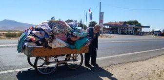 Develi: 88 yaşındaki çerçici ekmek parası için kilometrelerce yol gidiyor